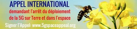 Appel international demandant l arret du deploiement de la 5g sur terre et dans l espace 450 x 98